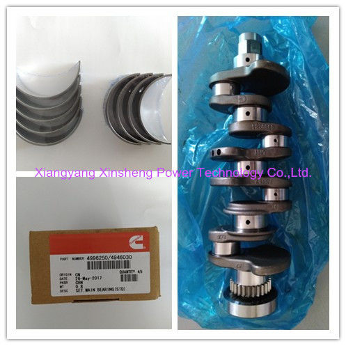 Foton Cummins Isf2.8 Spare Part: Crankshaft 4980384, Crankshaft Bearing 4996250
